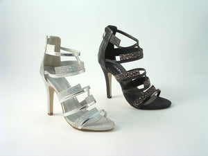 Divine Diamante Caged Strap Sandals