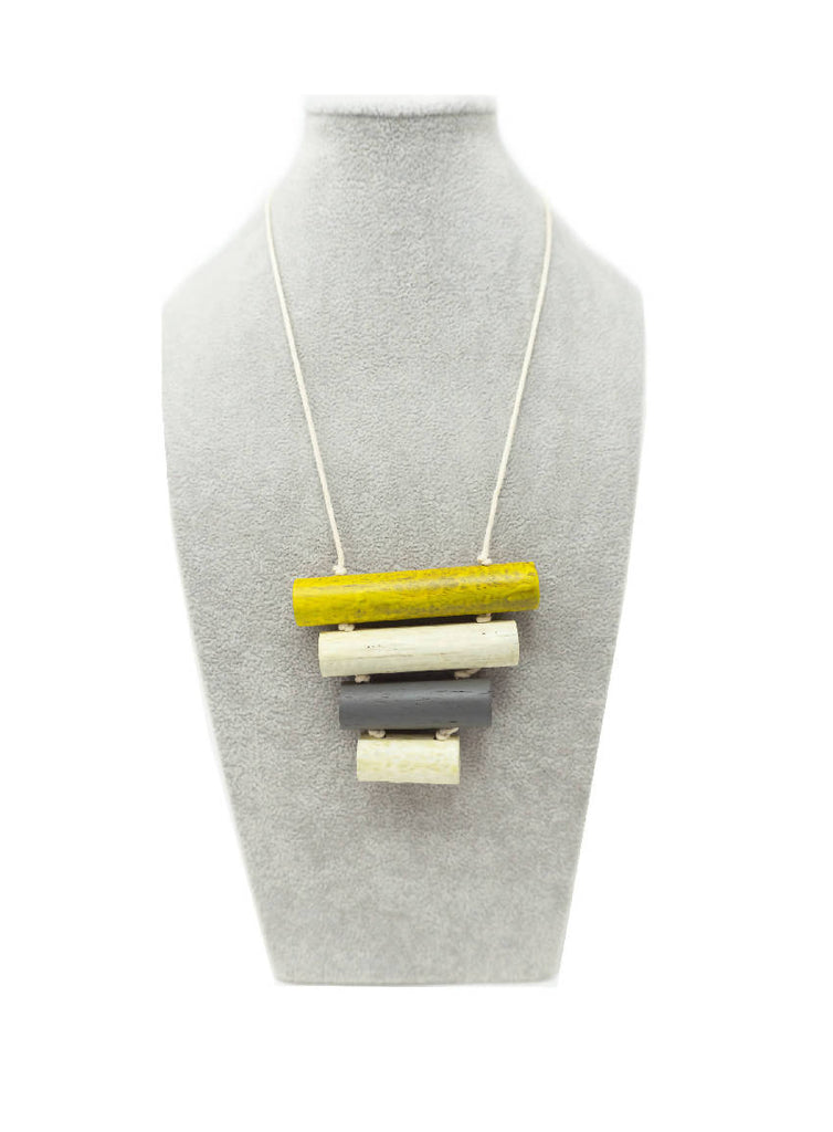 WOODEN STACK NECKLACE