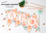 Sweet as a Peach Alphabet Banner