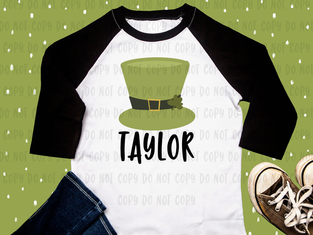 Leprechaun Hat design file (dxf, eps, png, svg) - perfect for vinyl shirt making