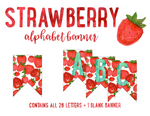 Strawberry Alphabet Banner