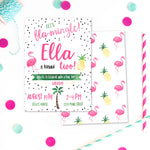 Flamingo and Pineapple Birthday Party Invitation