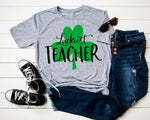 Luckiest Teacher design file (dxf, eps, png, svg) - perfect for vinyl shirt making