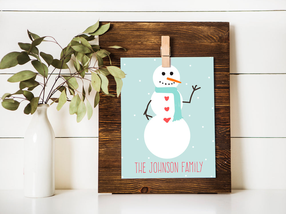 12 months of personalized holiday signs