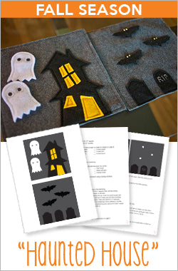 Fall Quiet Book Pattern - Haunted House
