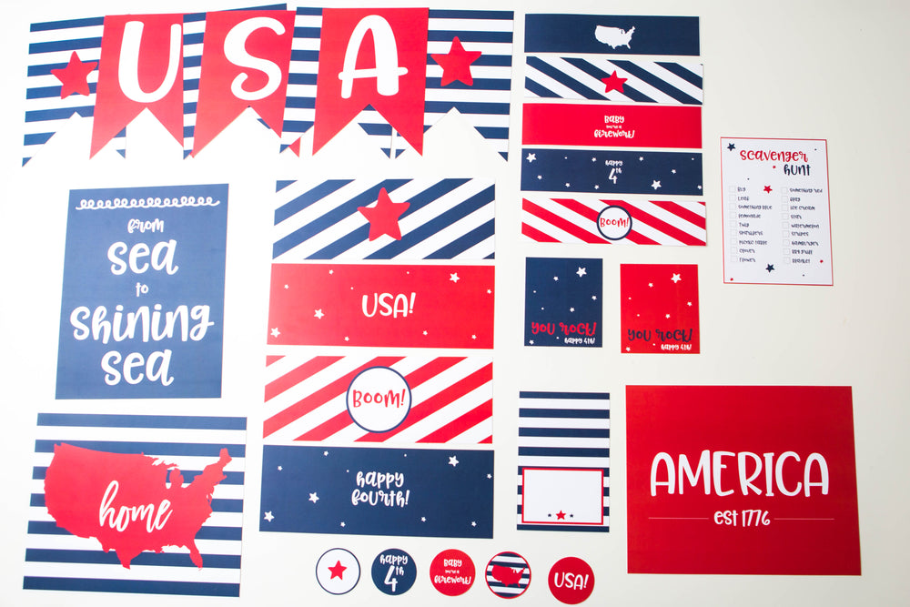 4th of July Printable Bundle