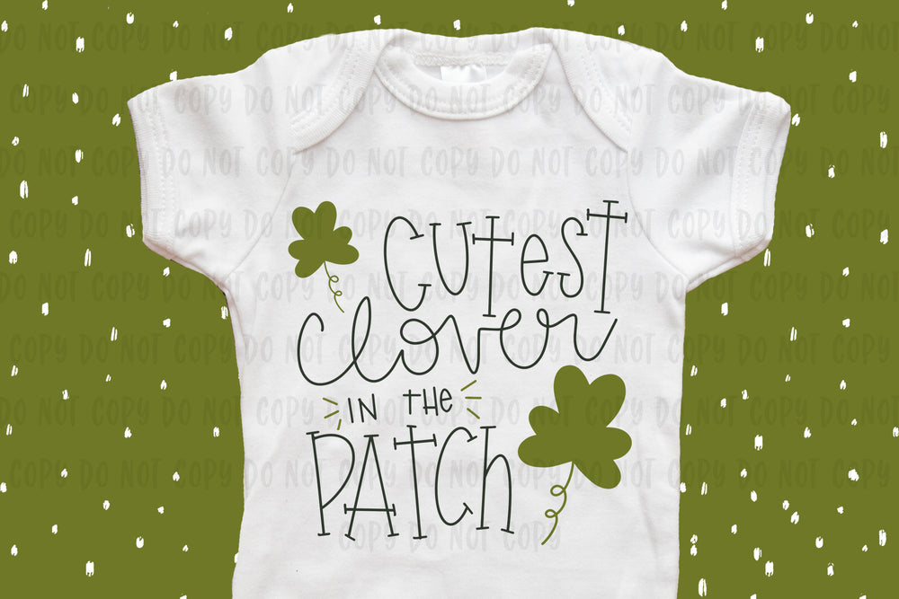 Cutest Clover in the Patch design file (dxf, eps, png, svg) - perfect for vinyl shirt making