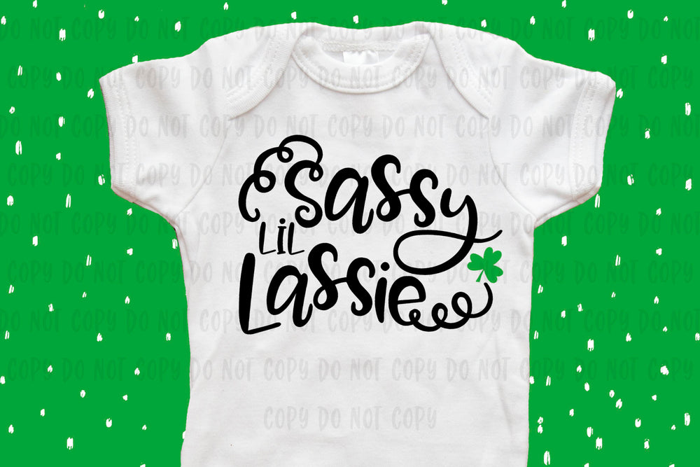 Sassy lil Lassie design file (dxf, eps, png, svg) - perfect for vinyl shirt making