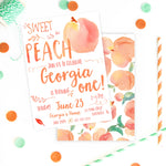 Sweet as a Peach Birthday Party Invitation