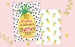 Pineapple Birthday Party Invitation