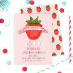 Classic Strawberry Invitation