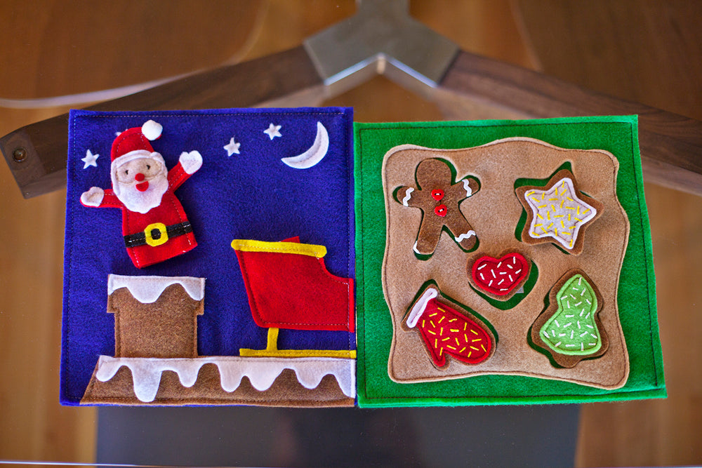 Winter Quiet Book Pattern - Cookies for Santa