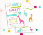 Zoo Girl Birthday Party Invitation