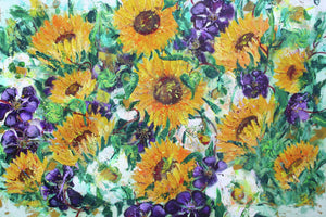 Sunflowers with Clematis