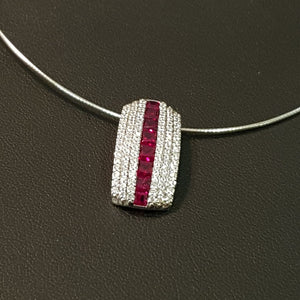 Stylish Ruby Omega Necklace