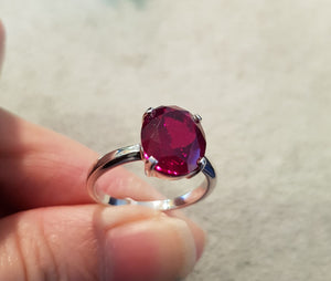 Classic Oval Ruby Ring