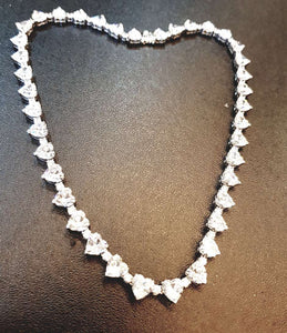 Heartshape Tennis Necklace