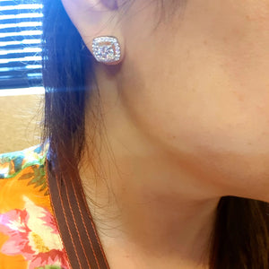 Tiffany Cushion  Earring