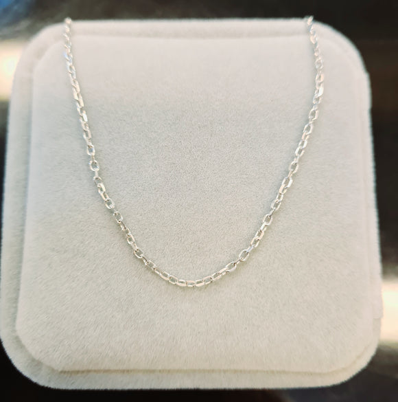 Oval Sterling Silver Chain
