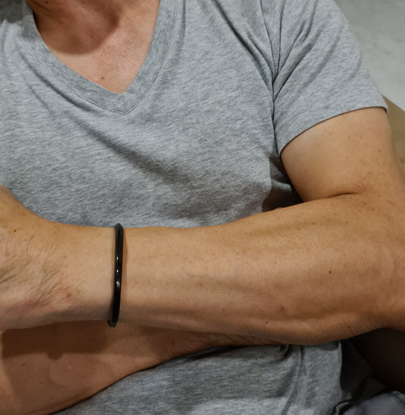 Black Stainless Steel Cuff