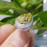 Canary Pear Shaped Ring