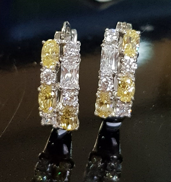 Stunning Canary Loop Earring