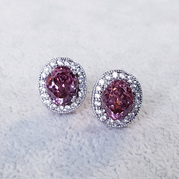 Rose Pink Tourmaline Earring