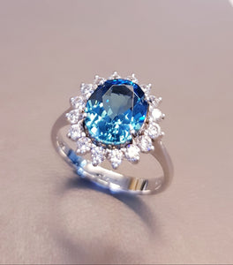 Perfect Blue Topaz Ring