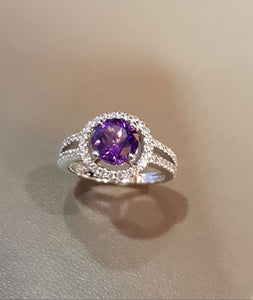 Halo Alexandrite Ring