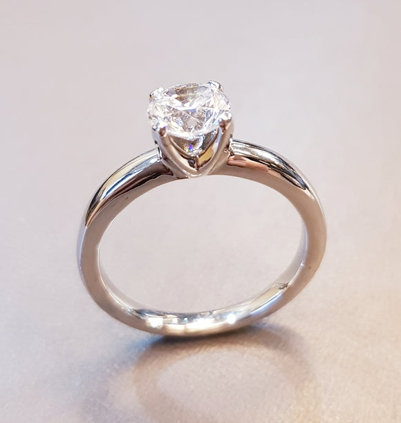 V Solitaire Ring