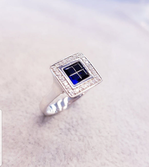 Square Bezel Ring