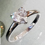 Heartshaped Solitaire Ring
