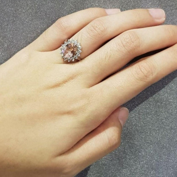 Perfect Morganite Ring