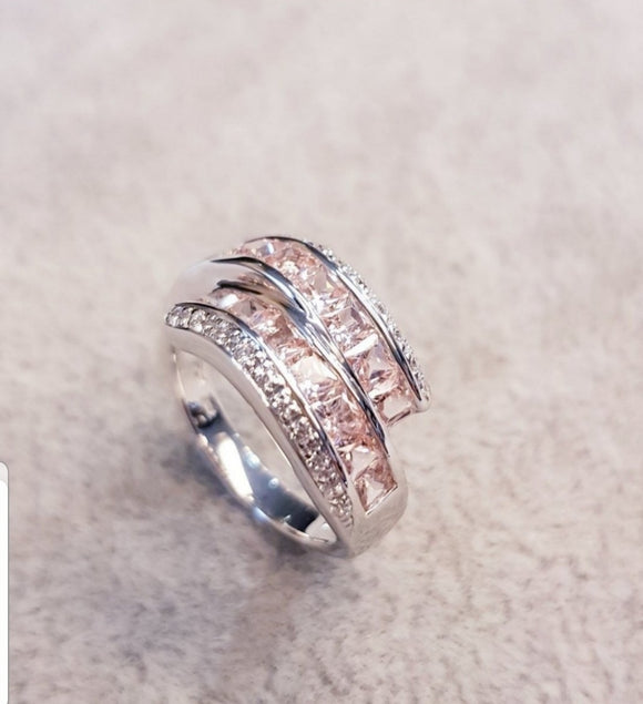 Fancy Morganite Ring