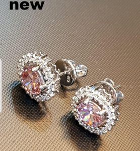 Halo Oval Morganite Earring