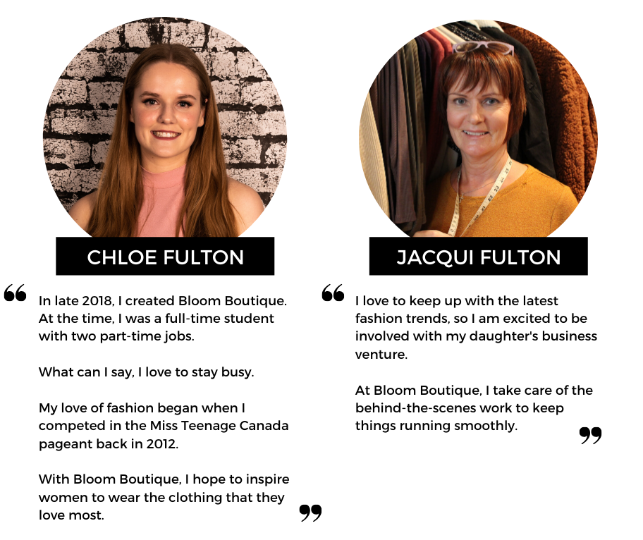 Meet Chloe & Jacqui Fulton, the mother-daughter duo behind Bloom Boutique | an online women's clothing boutique based in St. Albert, AB