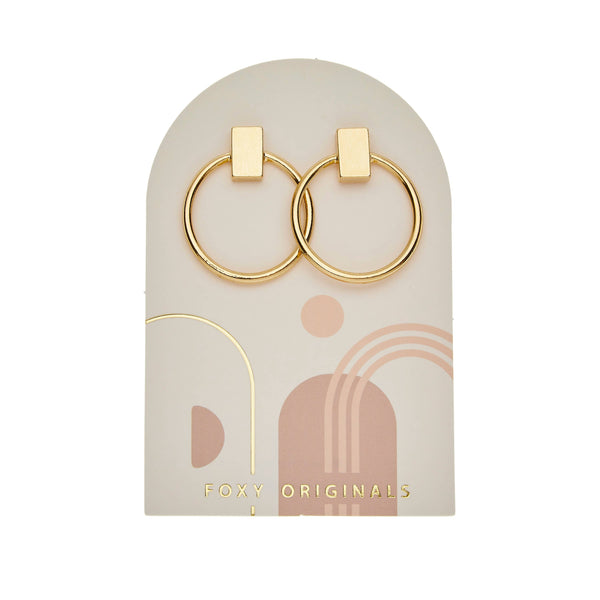 Foxy Originals Hollis Earrings | hoop earrings | plated in 14 karat gold | bloom boutique