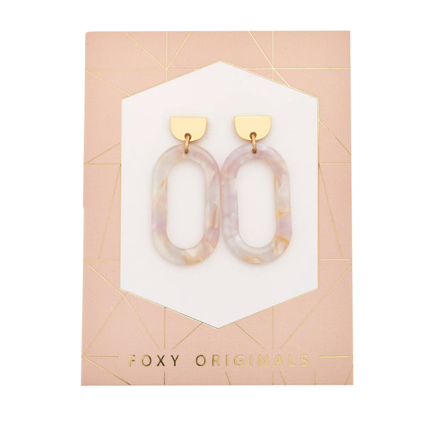 Foxy Originals Bali Statement Earrings | ultra thin, light, drop earrings | 14 karat gold plated | lead free | trendy earrings | bloom boutique