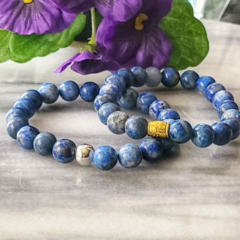 Wisdom, Truth & Self Awareness | Beaded Stretch Bracelet | Lapis Lazuli Gemstone