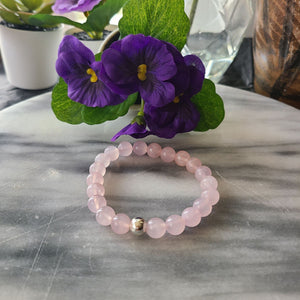 Unconditional Love, Self Love & Kindness | Beaded Stretch Bracelet | Rose Quartz Gemstone