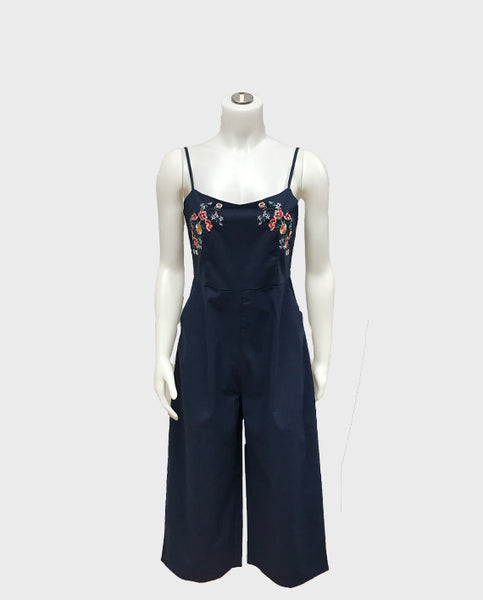 Bloom Boutique - Embroidery Cotton Jumpsuit