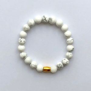 Bloom Boutique - Clarity, Forgiveness & Relaxation | Beaded Stretch Bracelet | Howlite Gemstone