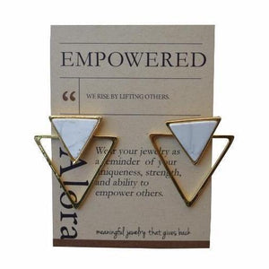 Bloom Boutique - Geometric Triangle Statement Stud Earrings
