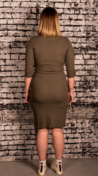 Bloom Boutique - Ribbed High Neck Dress