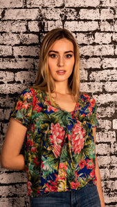 Tropical Flower Top | Bloom Boutique