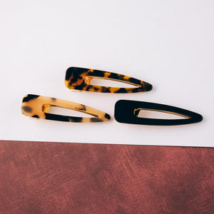 tortoise resin hair clip | bloom boutique