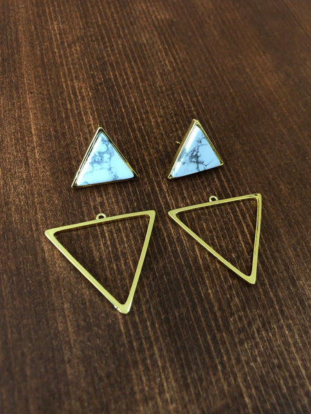 Geometric Triangle Statement Stud Earrings