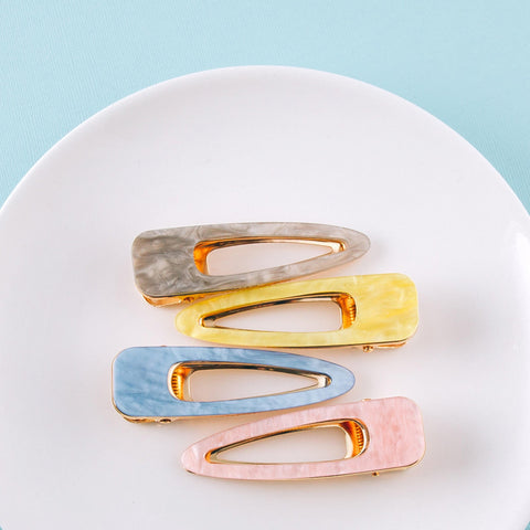 pastel resin hair clips | cute hair accessories | bloom boutique