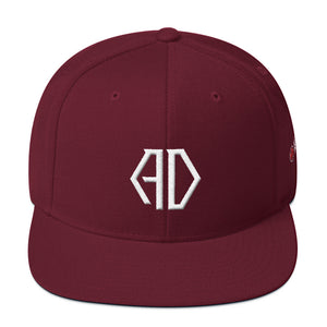 ADHBees Monogram Snapback Hat (Red)