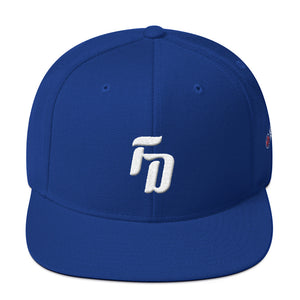 Foggy Dogs Monogram Snapback Hat (Blue)